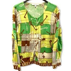 CAbi Key Cardigan Sweater XL